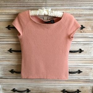 Dana Buchman Cashmere Boatneck Sweater Top L